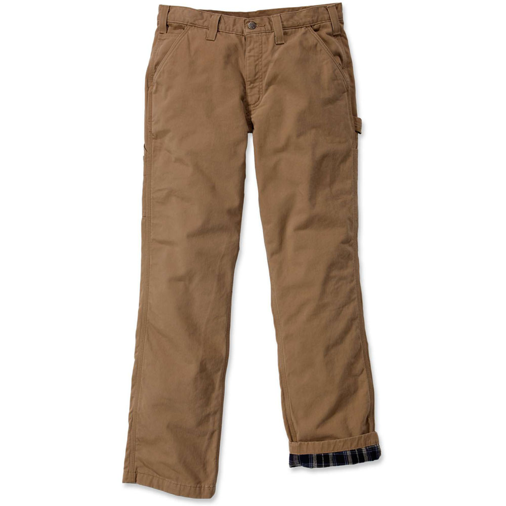 carhartt mens flannel lined twill dungaree cargo pants trousers ebay. Black Bedroom Furniture Sets. Home Design Ideas