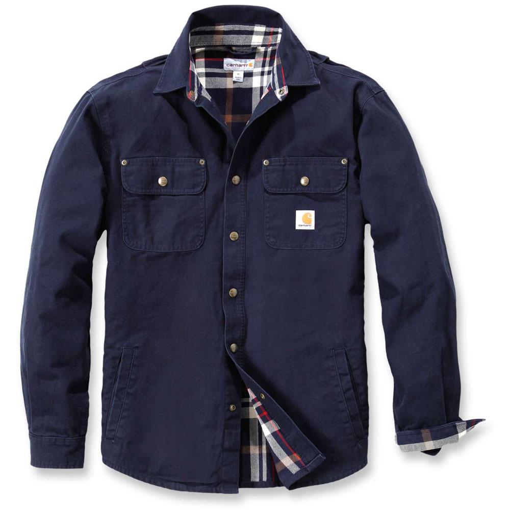 carhartt mens weathered canvas washed flannel lined shirt jacket top ebay. Black Bedroom Furniture Sets. Home Design Ideas