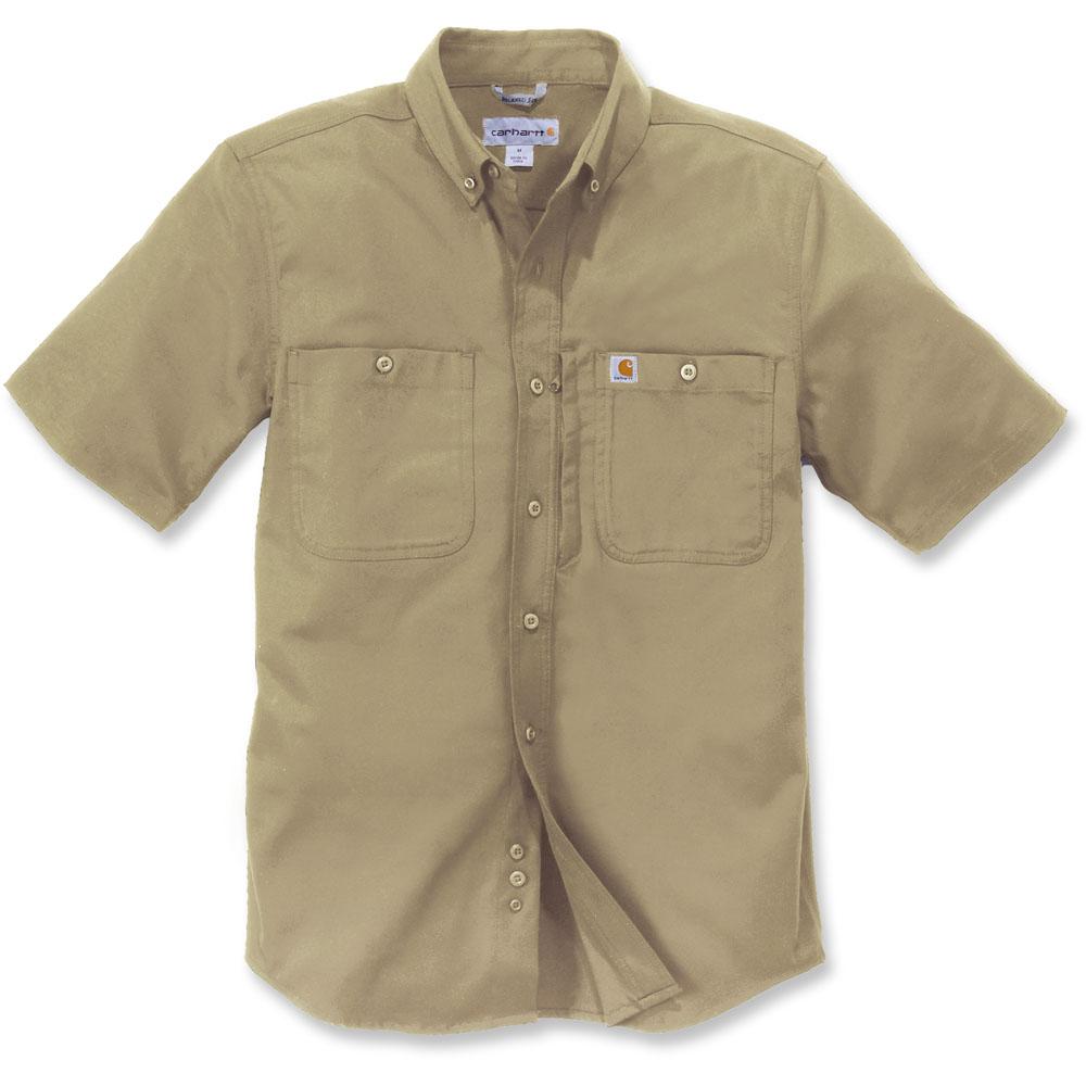 Carhartt Mens Rugged Prof Short Sleeve Button Work Shirt