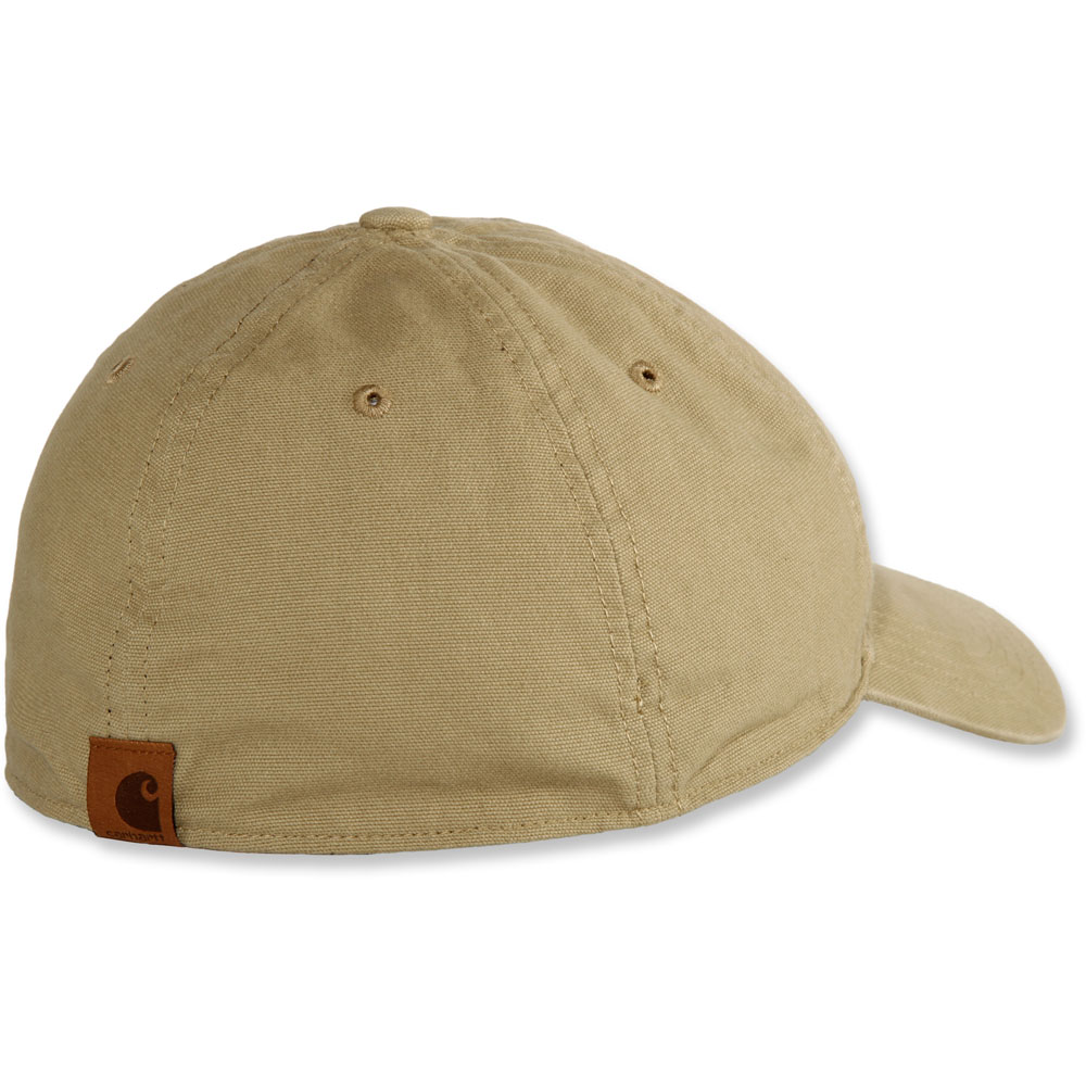 Carhartt-Mens-Rigby-Stretch-Fit-Leather-Patch-Baseball-Cap thumbnail 7