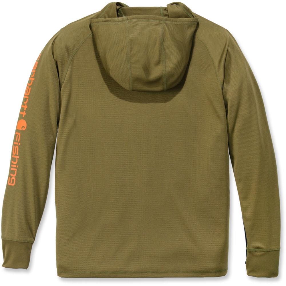 Carhartt-Mens-Fishing-Hooded-Fast-Drying-Long-Sleeve-T-Shirt thumbnail 6