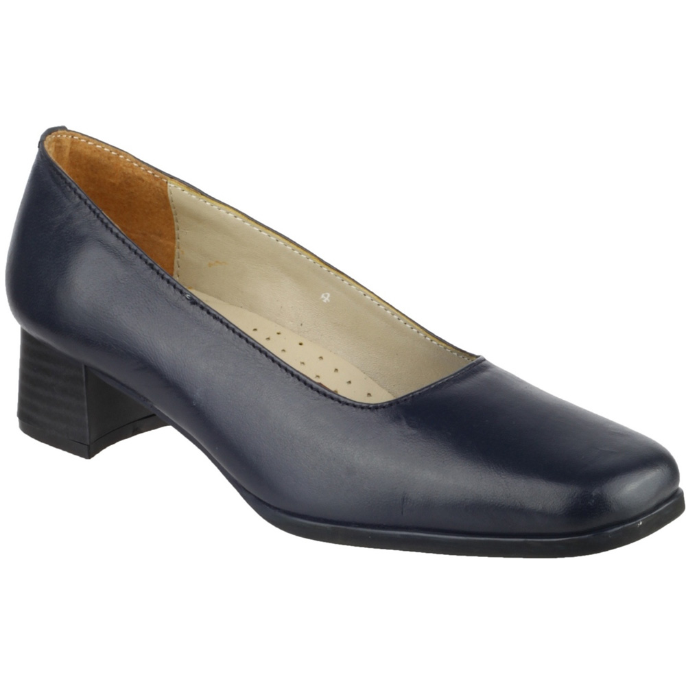 Amblers Ladies Walford Slip On Full Leather Office Formal Shoe Navy ghhbKDvxeP