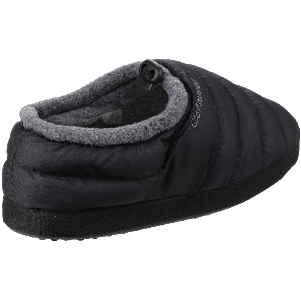 Cotswold Womens/Ladies Soft Faux Fur Collar Padded Camping Slippers KMtJSHmt4