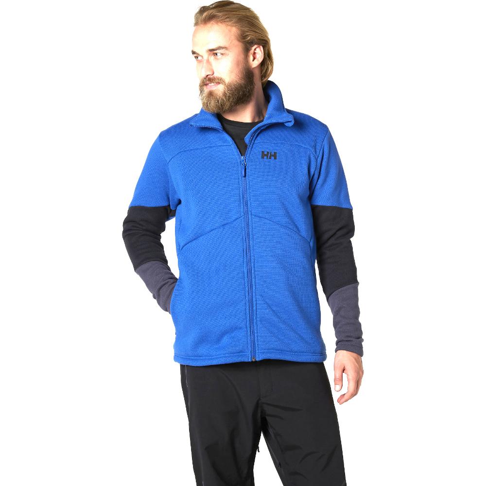 Helly-Hansen-Mens-Eq-Black-Midlayer-Stretch-Brushed-Fleece-Jacket-Top