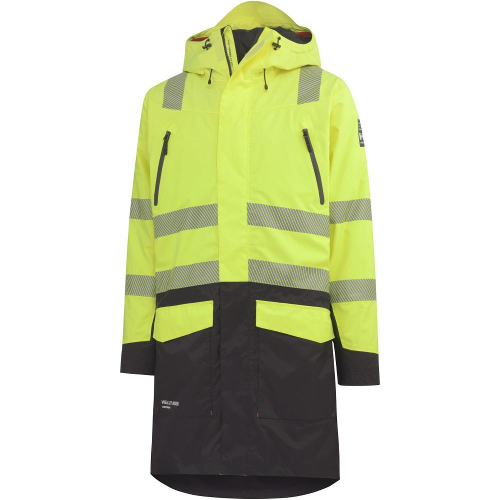 Details about Helly Hansen Mens Oslo H2 Flow CIS Hi Vis Waterproof Workwear Coat
