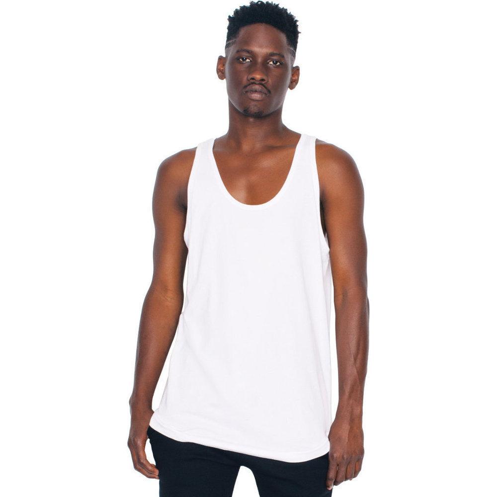 American Apparel Mens Fine Jersey 100/% Cotton Contrast Tank Top
