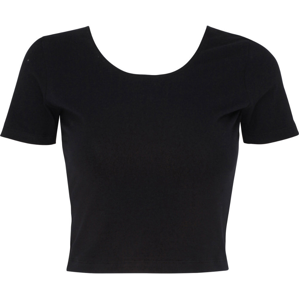 American apparel womens ladies cotton spandex jersey crop for Cotton and elastane t shirts