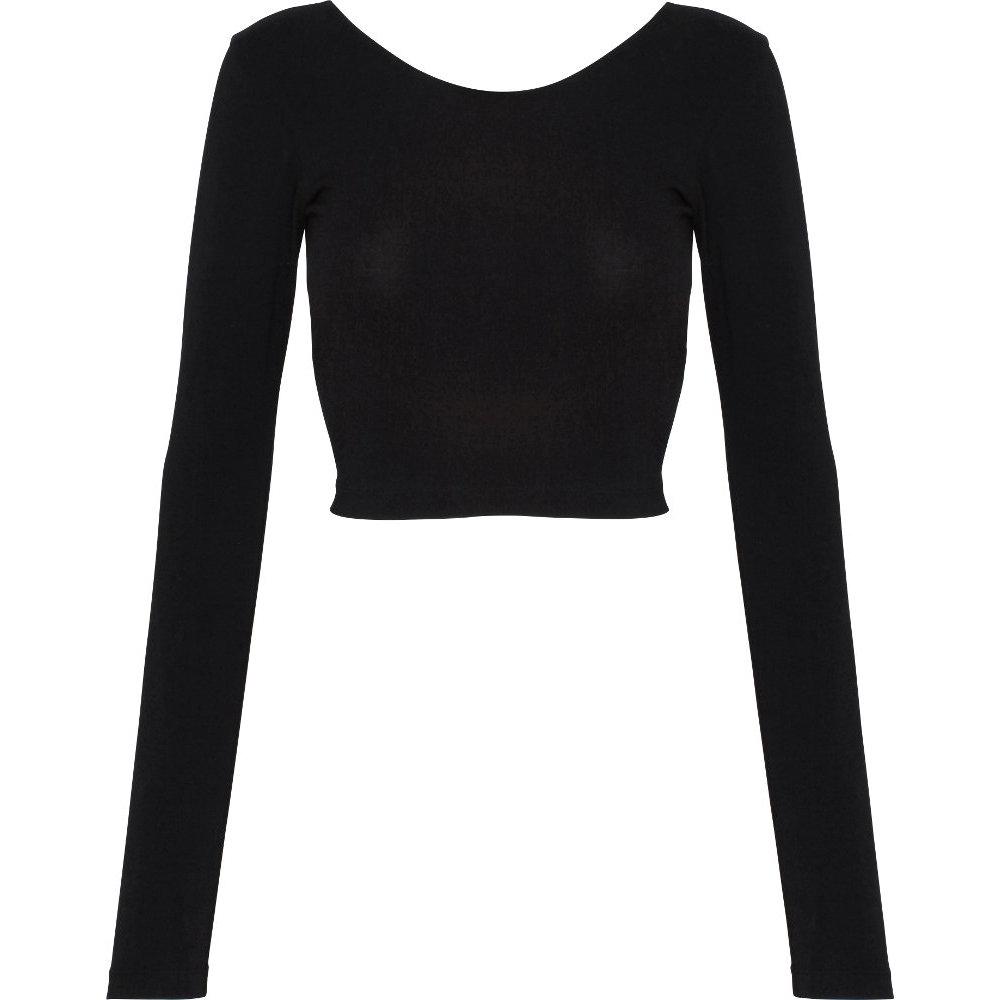 2064885c88f39 American Apparel Womens Ladies Long Sleeve Cotton Spandex Crop Top ...