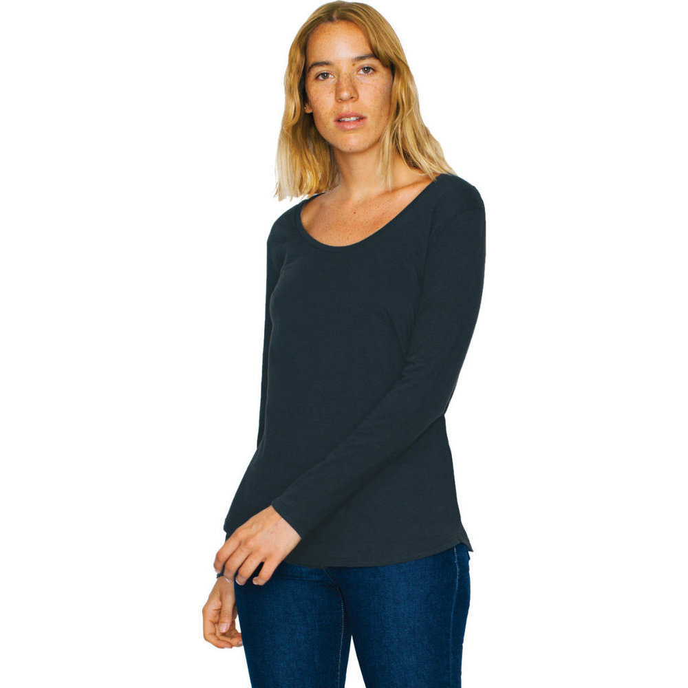 American Apparel Womens//Ladies Ultra-Wash Cotton Long Sleeve T-Shirt