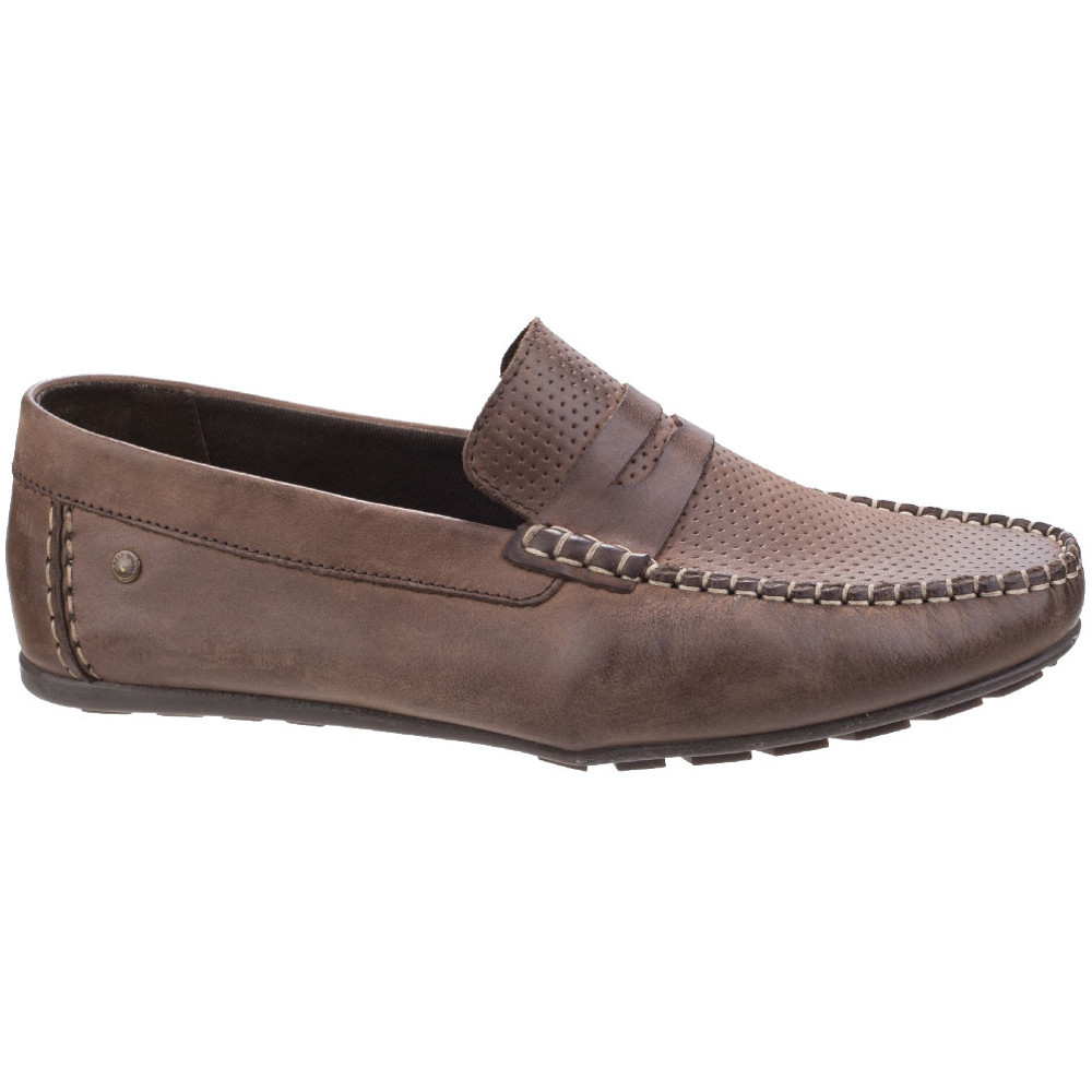 High Attwood Leather Waxy On Mens Slip Shine London Loafer Base q354LcSARj
