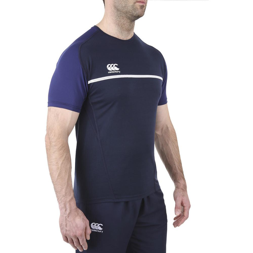 Canterbury mens pro dry moisture wicking active t shirt ebay for Mens moisture wicking sleeveless shirts