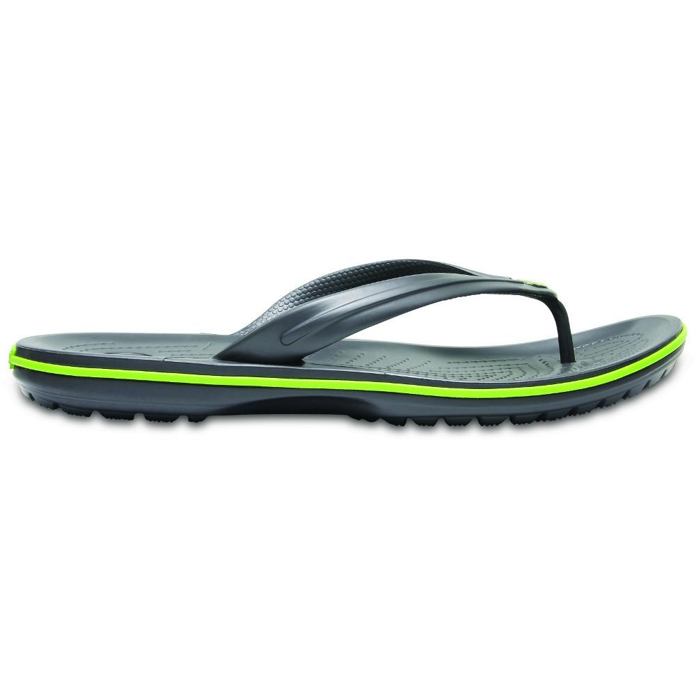 Crocs-Mens-Crocband-Flip-Croslite-Flip-Flop-Sandal-White thumbnail 8