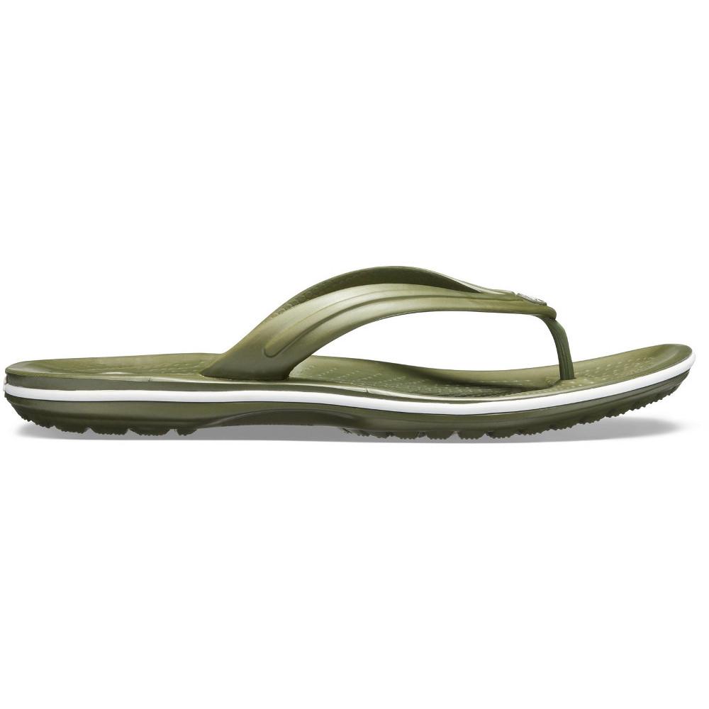 Crocs-Mens-Crocband-Flip-Croslite-Flip-Flop-Sandal-White thumbnail 12