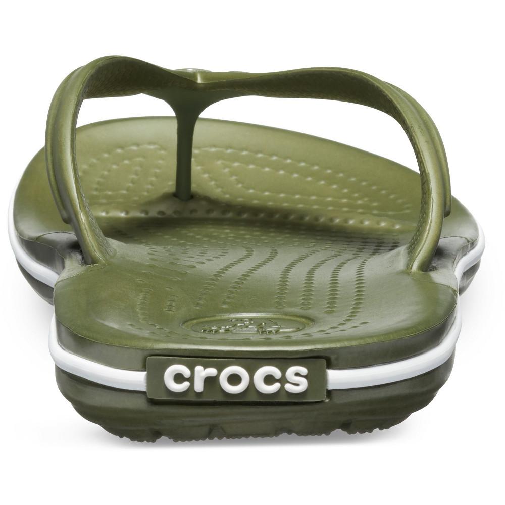 Crocs-Mens-Crocband-Flip-Croslite-Flip-Flop-Sandal-White thumbnail 13