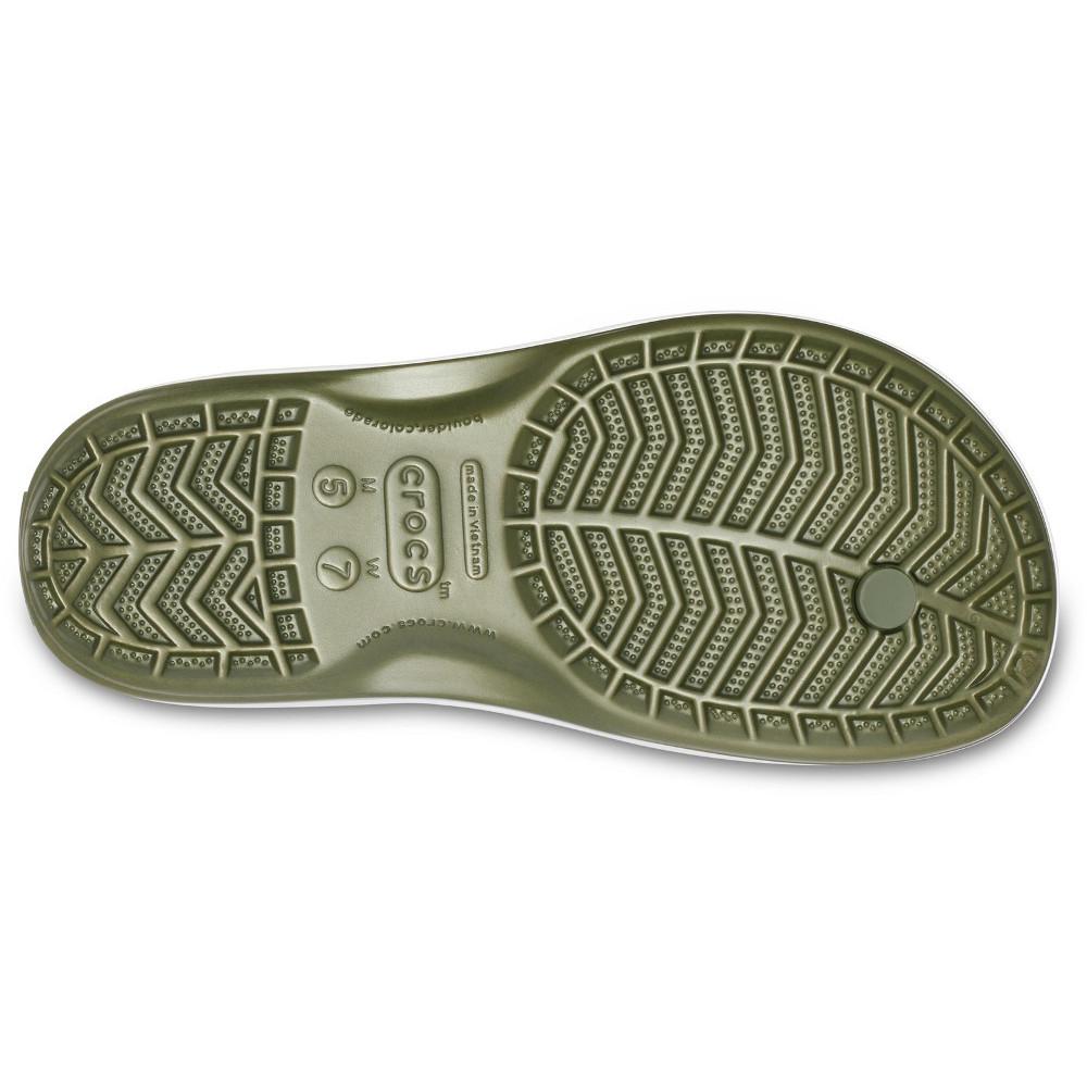 Crocs-Mens-Crocband-Flip-Croslite-Flip-Flop-Sandal-White thumbnail 14