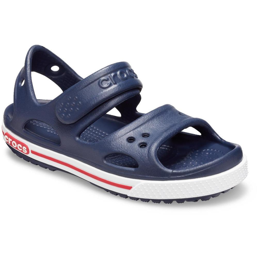Details about  /Kids Childrens Crocs Crocband Sandal II Navy White Sandal Flip Flop
