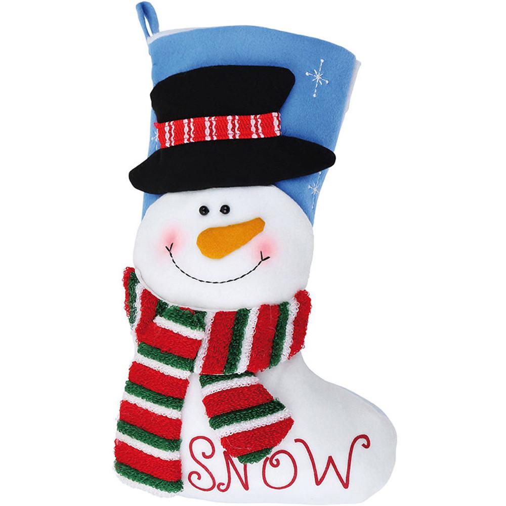 Christmas Boys & Girls Bright Festive Snowman Stocking 5053381586866 ...