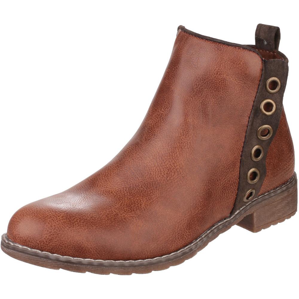 Divaz Womens//Ladies Demi PU Inside Zip Lightweight Ankle Boots