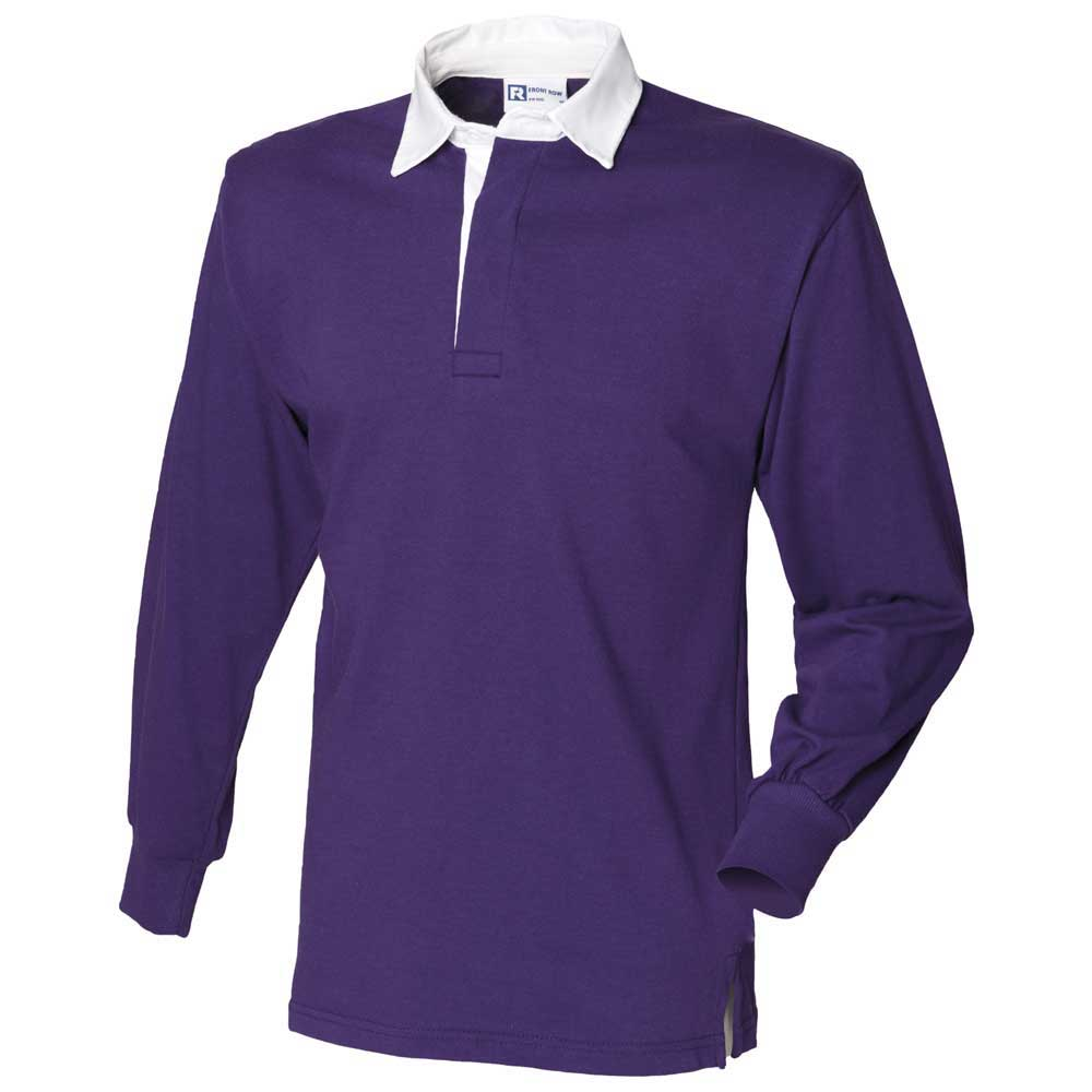 Front Row Mens Long Sleeve Classic Style Rugby Shirt iJSXIaSCgY