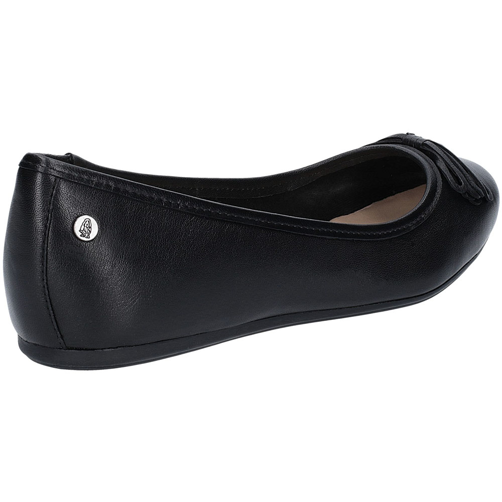 Hush-Puppies-Womens-Heather-Bow-Flat-Leather-Ballet-Shoes thumbnail 10
