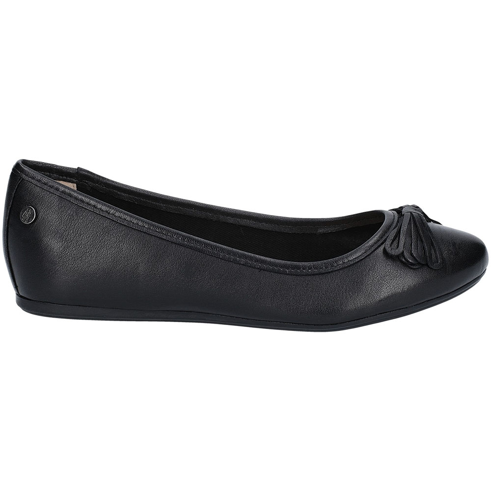 Hush-Puppies-Womens-Heather-Bow-Flat-Leather-Ballet-Shoes thumbnail 11