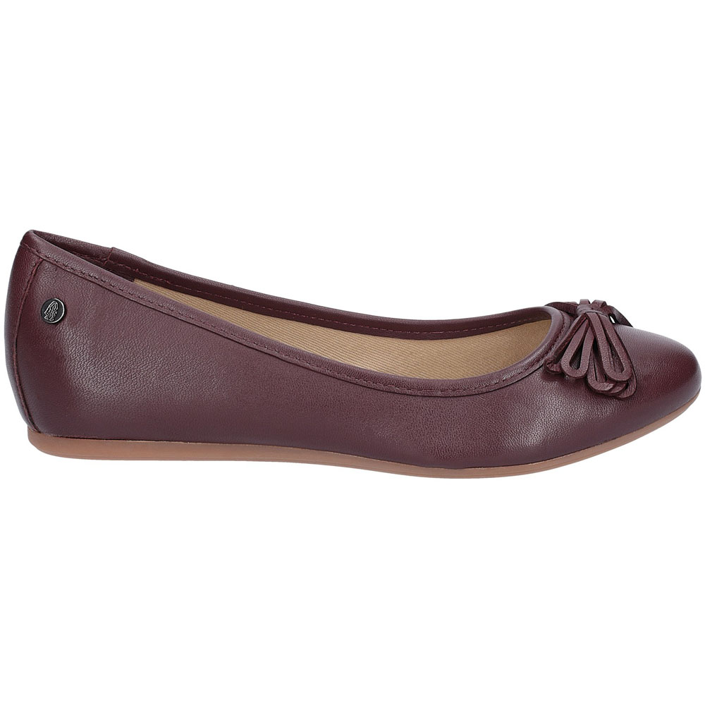 Hush-Puppies-Womens-Heather-Bow-Flat-Leather-Ballet-Shoes thumbnail 15