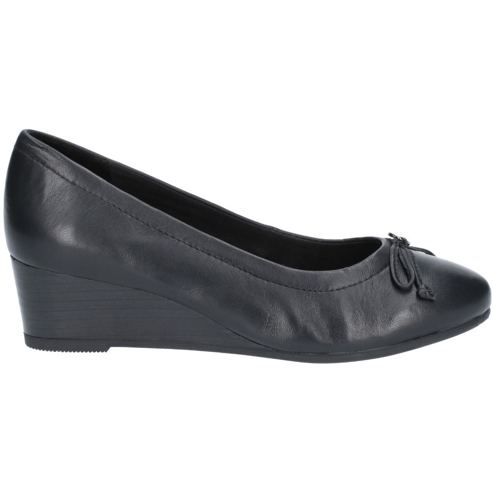 Hush-Puppies-Womens-Morkie-Charm-Leather-Wedge-Heel-Shoes thumbnail 7