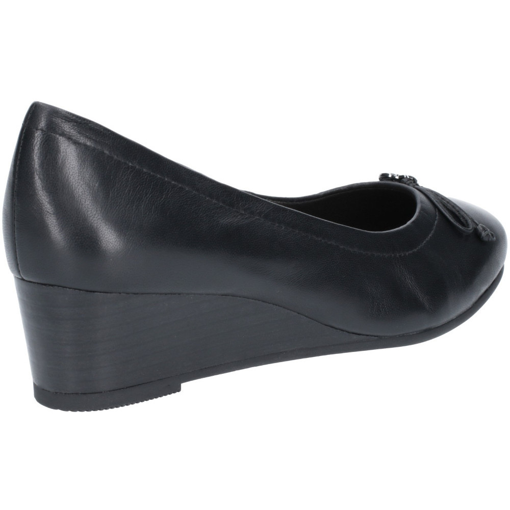 Hush-Puppies-Womens-Morkie-Charm-Leather-Wedge-Heel-Shoes thumbnail 8