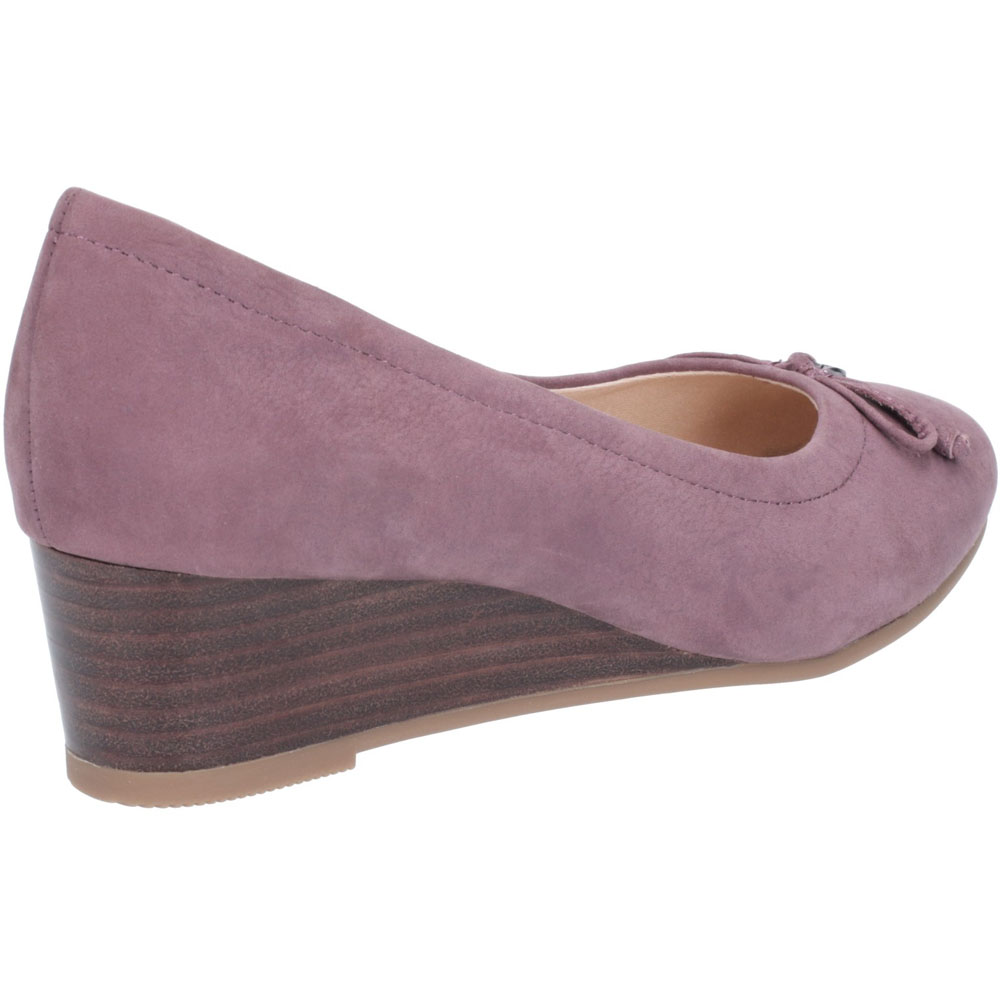 Hush-Puppies-Womens-Morkie-Charm-Leather-Wedge-Heel-Shoes thumbnail 11