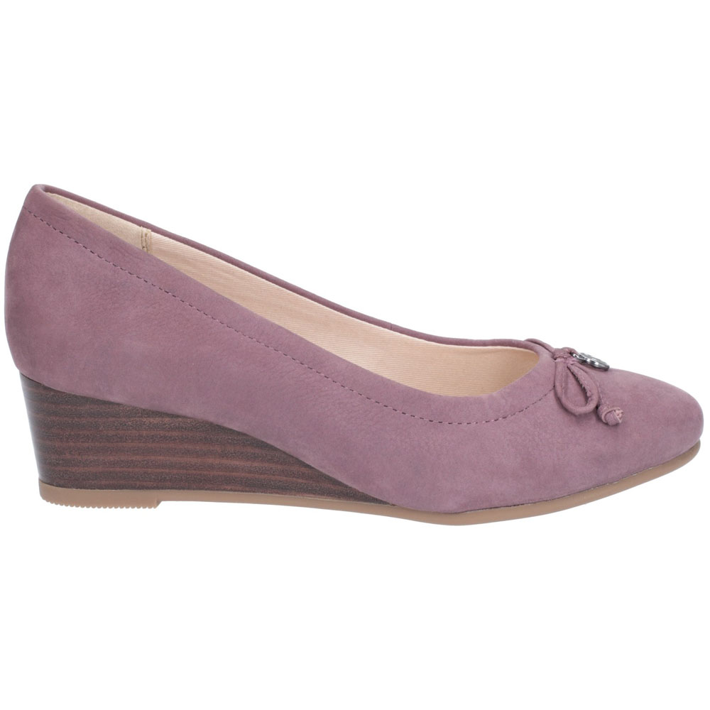 Hush-Puppies-Womens-Morkie-Charm-Leather-Wedge-Heel-Shoes thumbnail 12