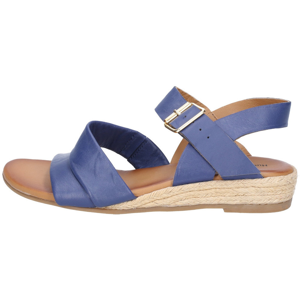 Hush Puppies Womens Ruby Buckle Strap Wedge Summer Sandals