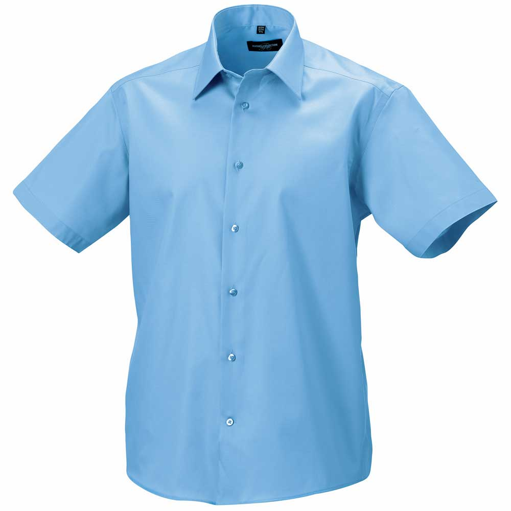 russell collection mens short sleeve tailored ultimate non