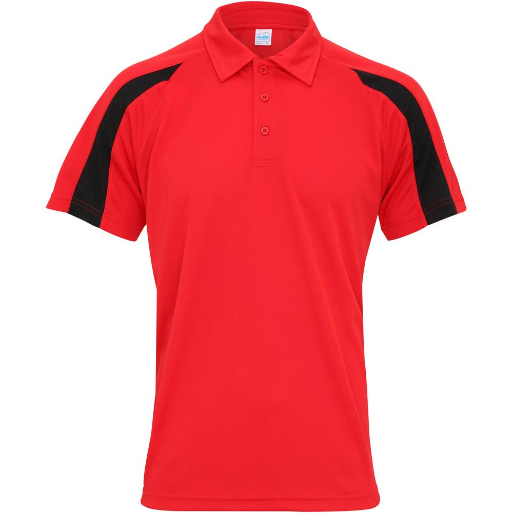 Awdis cool mens contrast cool polo shirt ebay for Cool mens polo shirts