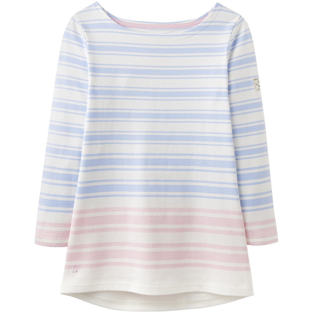 Joules Womens//Ladies Harbour Hem Relaxed Fit 3//4 Sleeve Jersey T Shirt