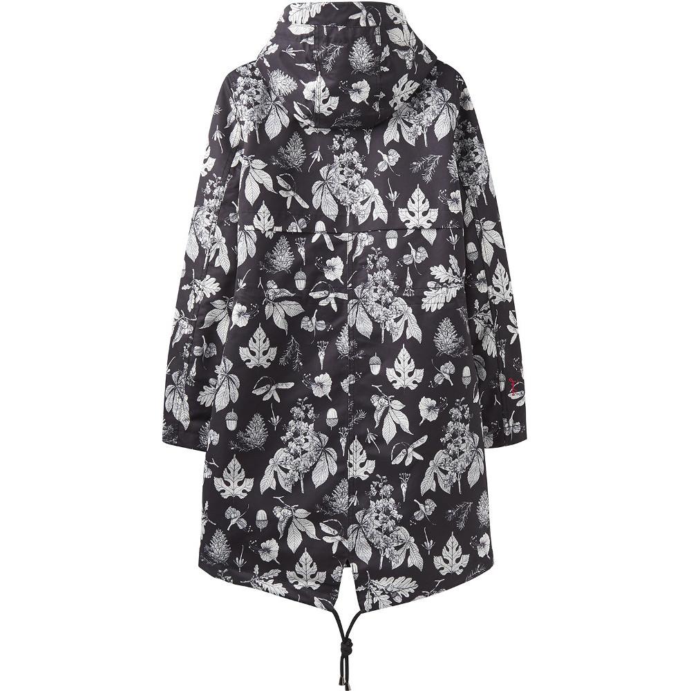 Joules Womens//Ladies Z Raine Printed Mid Length Waterproof Rain Jacket