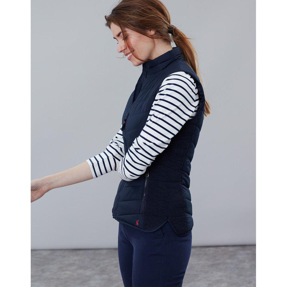 Joules Womens Fallow Quilted Insulated Fitted Fashion Gilet