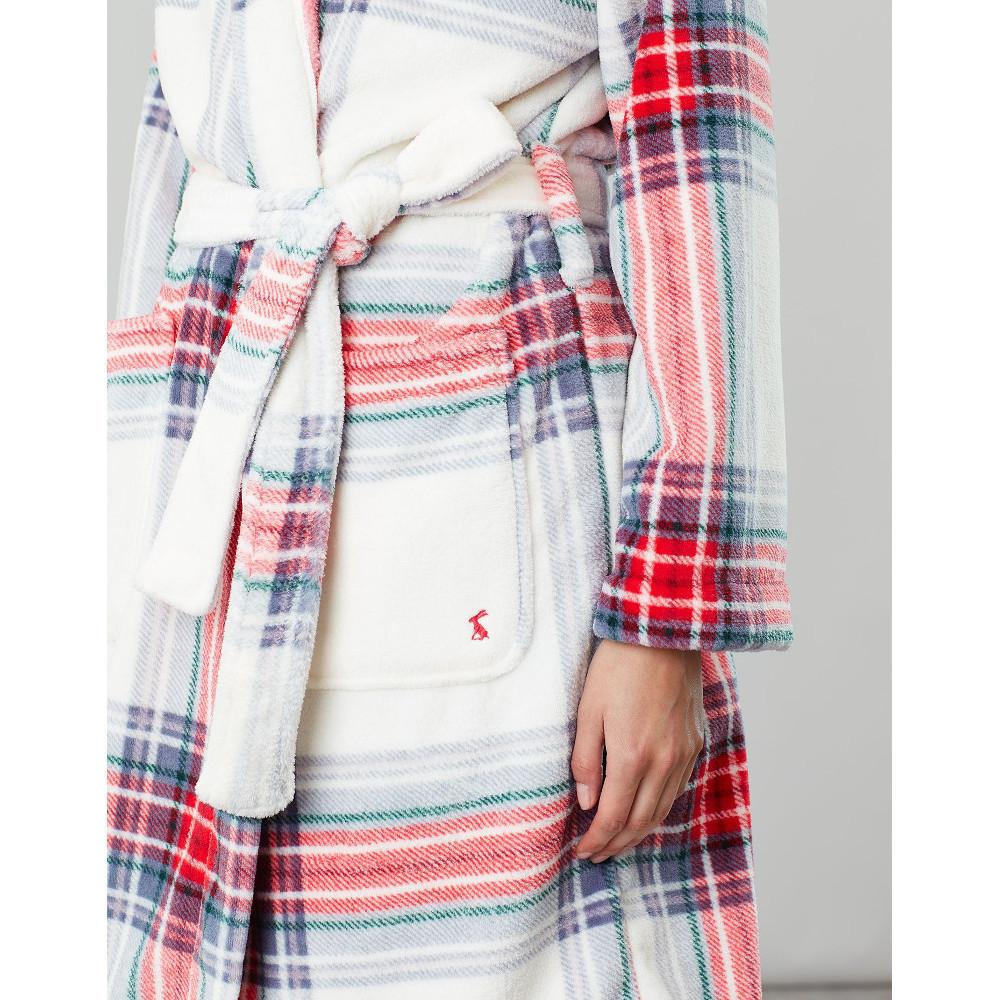 Joules Womens Rita Super Soft Fleece Hooded Dressing Gown