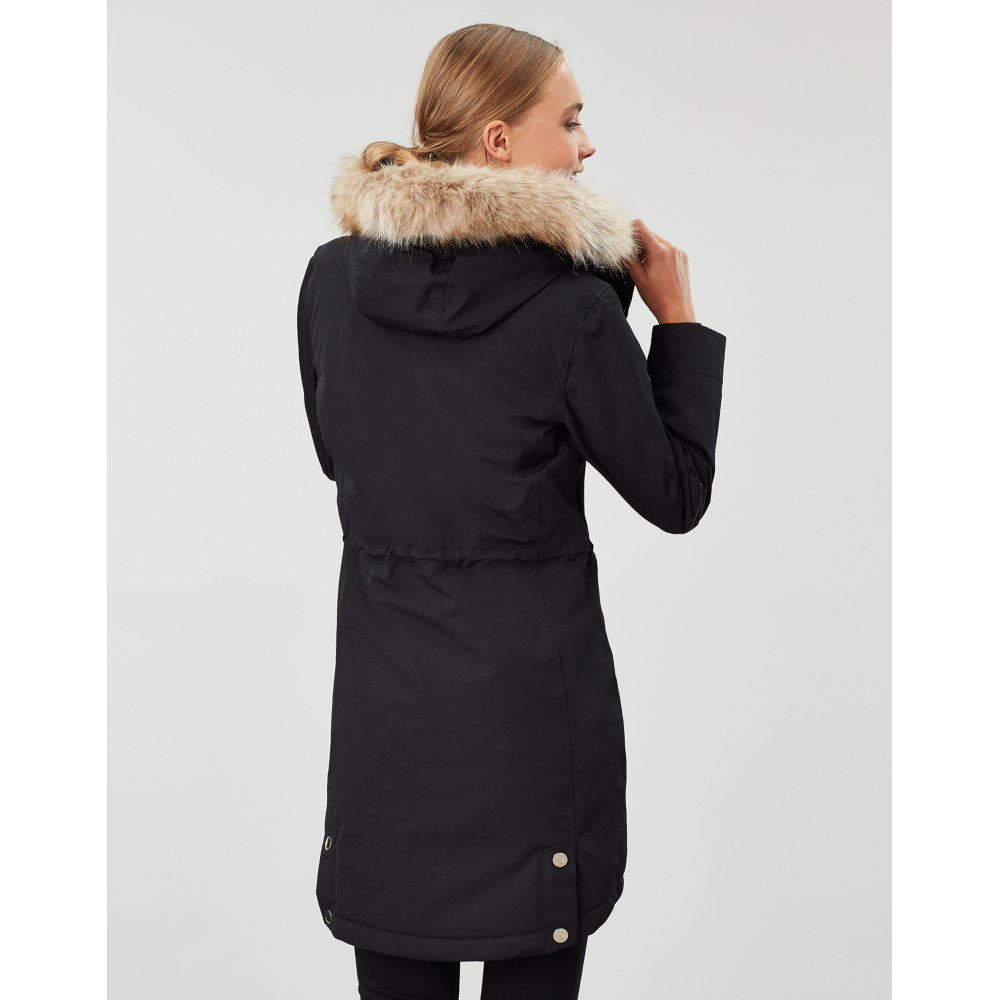 Joules-Womens-Kempton-Hooded-Drop-Tail-Parka-Coat-Jacket miniatuur 20