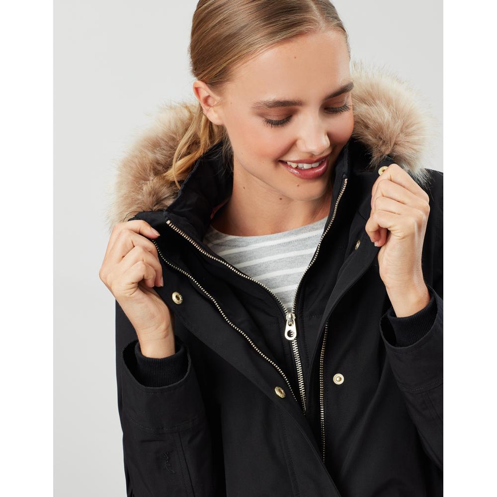 Joules-Womens-Kempton-Hooded-Drop-Tail-Parka-Coat-Jacket miniatuur 23