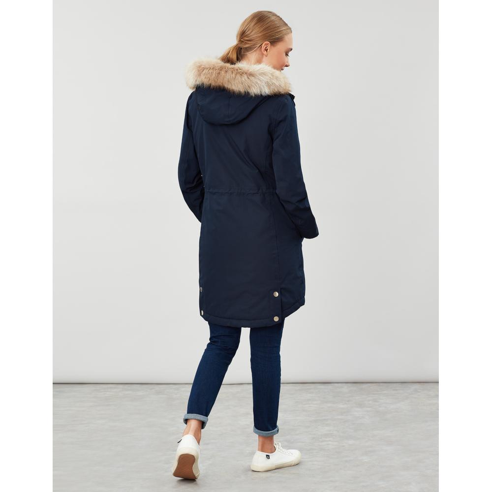 Joules-Womens-Kempton-Hooded-Drop-Tail-Parka-Coat-Jacket miniatuur 13