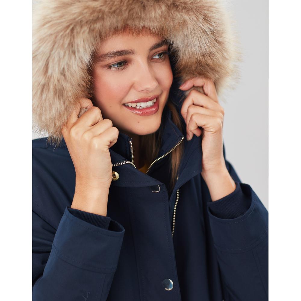Joules-Womens-Kempton-Hooded-Drop-Tail-Parka-Coat-Jacket miniatuur 16