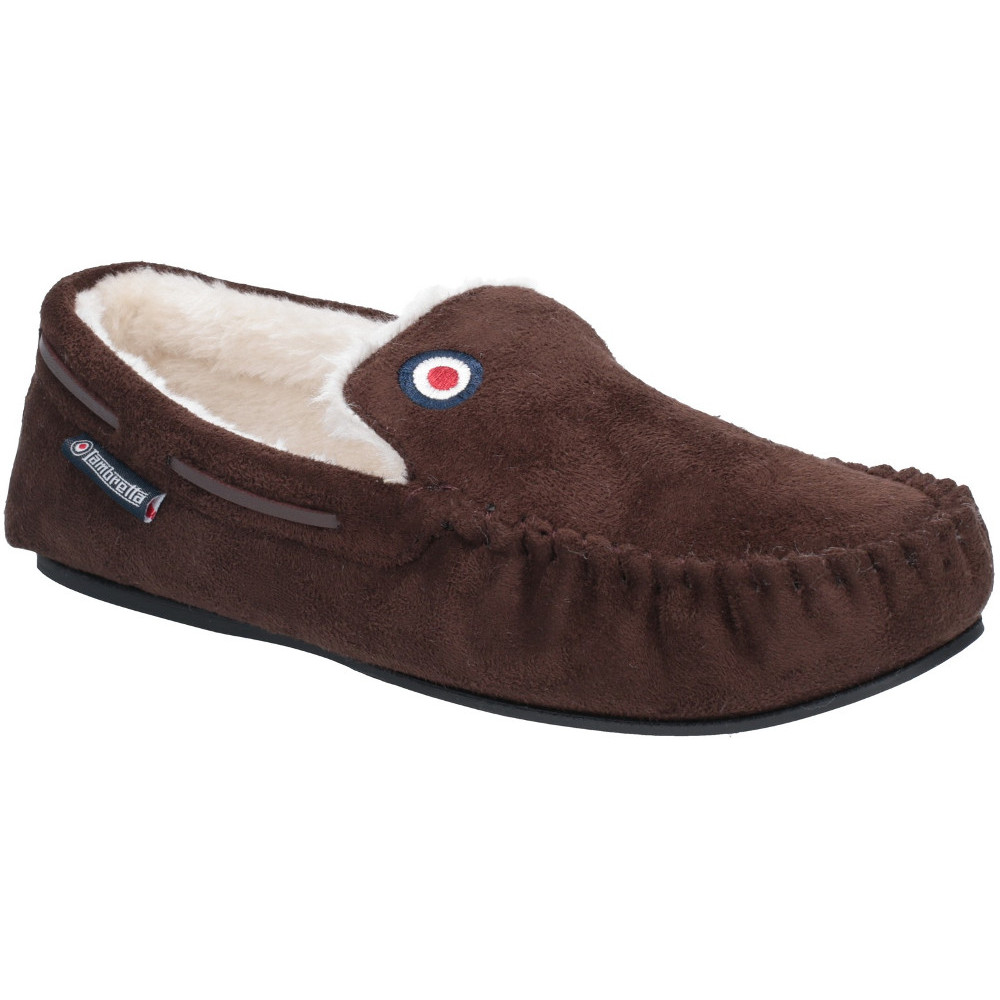66a665506f9c Lambretta-Mens-Moccasin-Fluffy-Lined-Full-Shoe-Slippers thumbnail