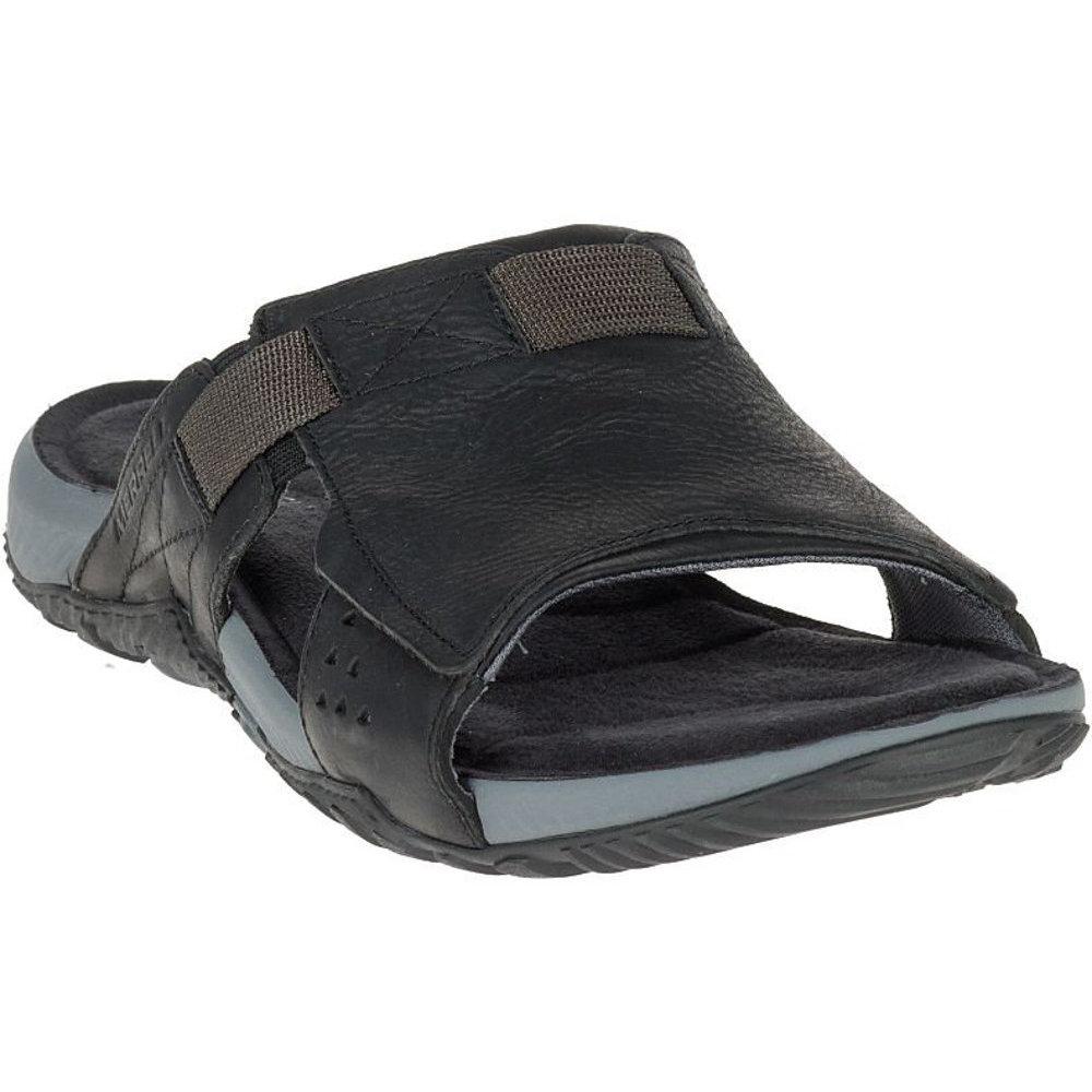 merrell mens terrant slide padded grain leather