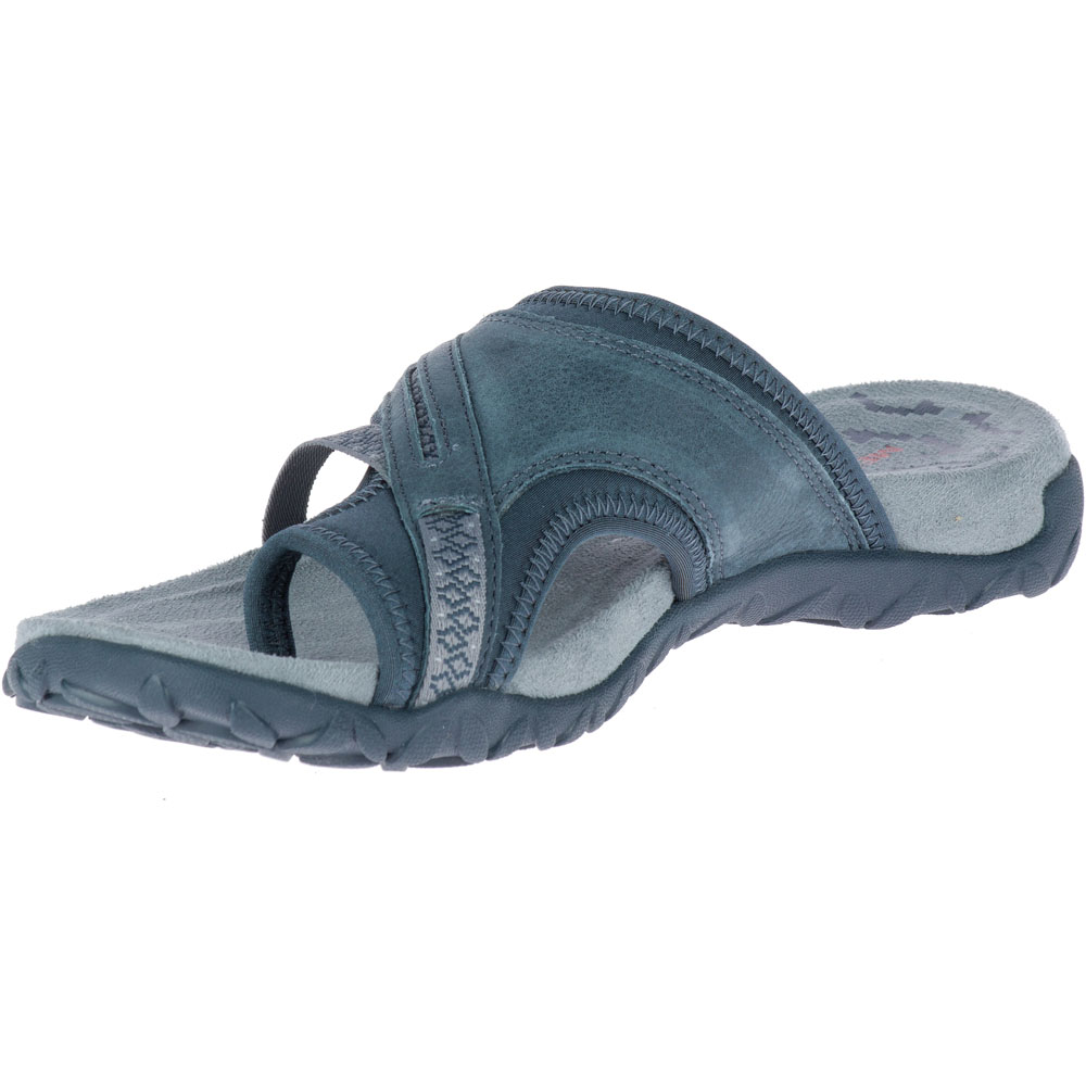 0e40bd320e4a Merrell Womens Ladies Terran Post II Slip On Leather Walking Sandals ...