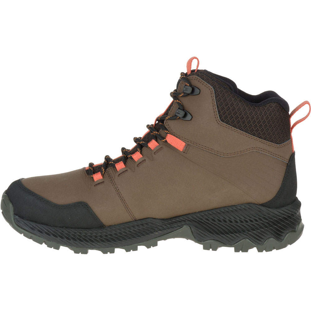 36a09ed8 Details about Merrell Mens Forestbound Mid Ankle Waterproof Leather Hiking  Boots