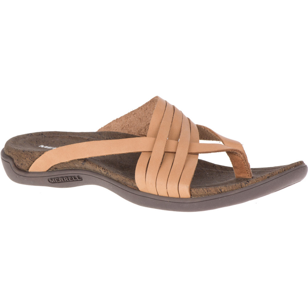 Merrell Womens District District District Mahana Toe Post Leather Sandals 16f334