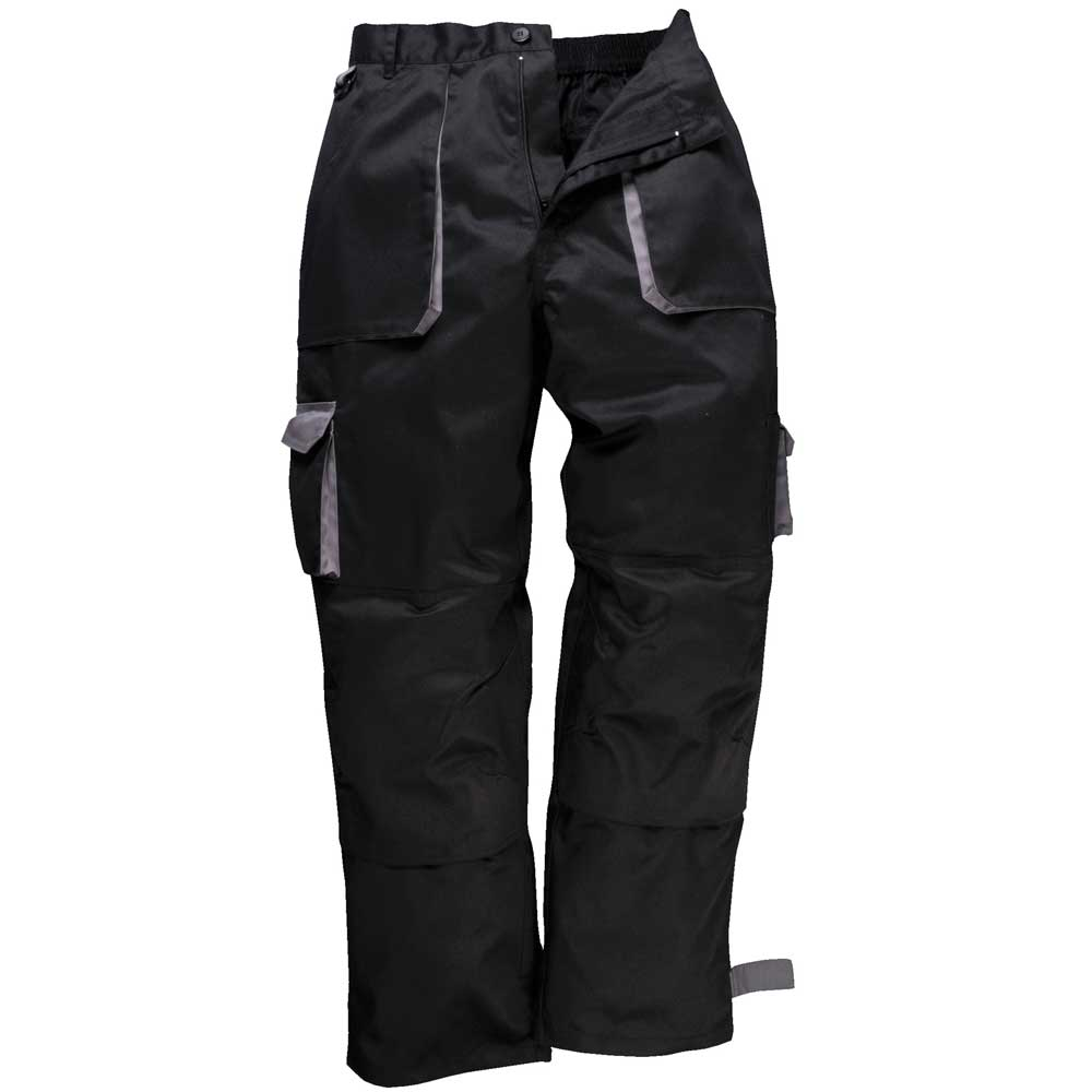 Able Workwear Contrast Trousers Portwest Elasticated Work Pants Texo Tx11 Kneepad Facility Maintenance & Safety Business & Industrial