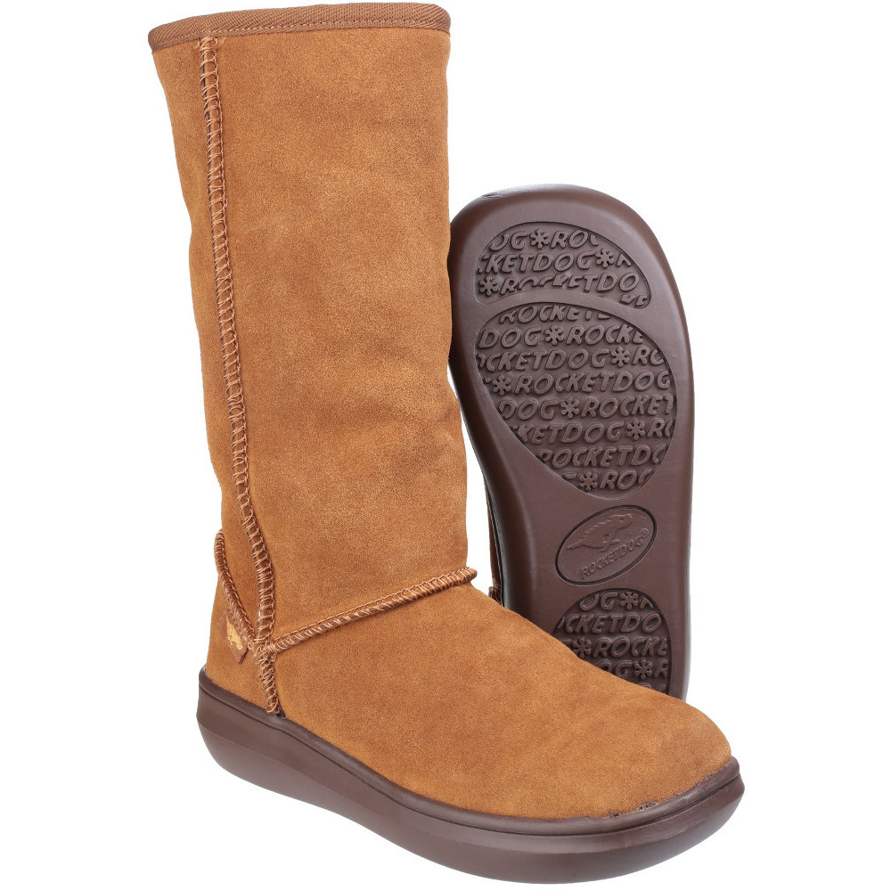 rocket womens sugardaddy suede leather pull on