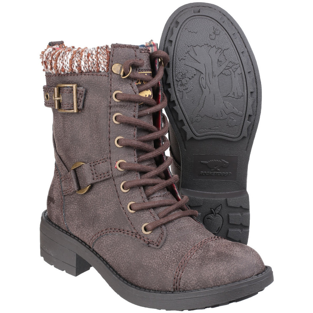 47ea1cbaf3be9 Rocket Dog Womens/Ladies Thunder Lace up Casual Faux Leather Boots ...