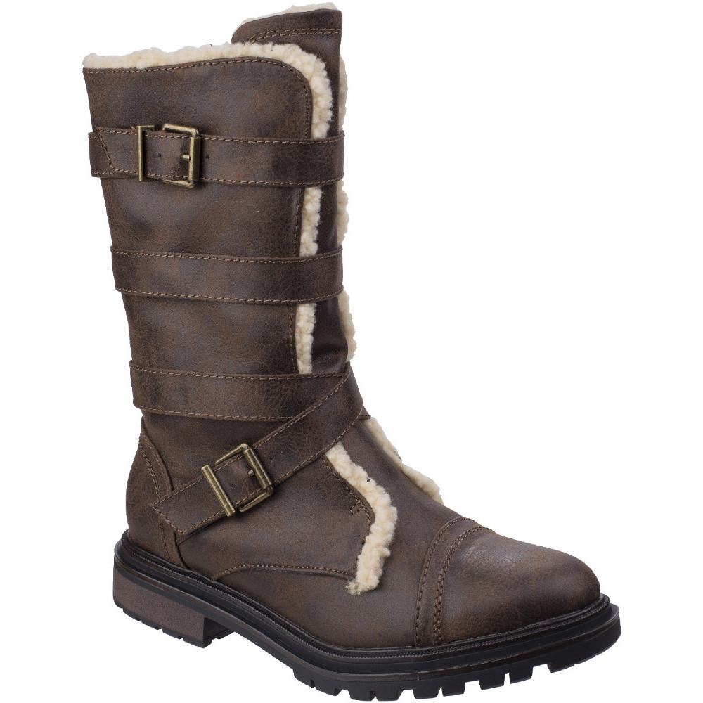 Rocket Dog Womens Ladies Lance Zip Up Durable Casual Casual Casual Tall Buckle Boots a08f5f
